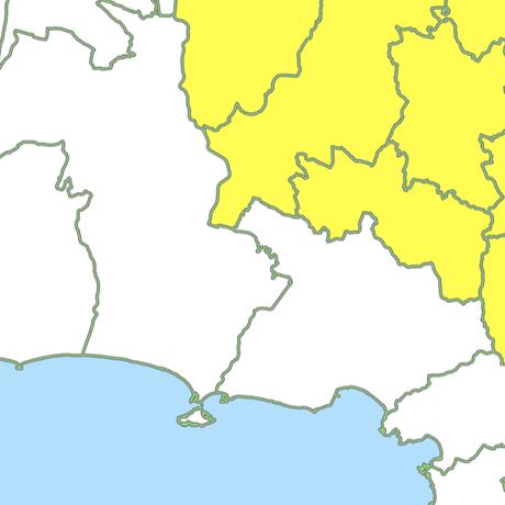 神奈川県 市区町村別 白地図データ(eps)