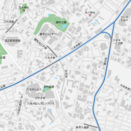 東京 六本木 マップ PDFデータ