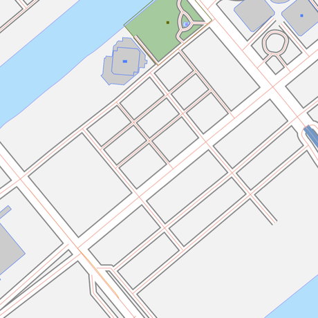 東京 豊洲・お台場 ベクター地図データ(eps) 日本語/英語 並記版