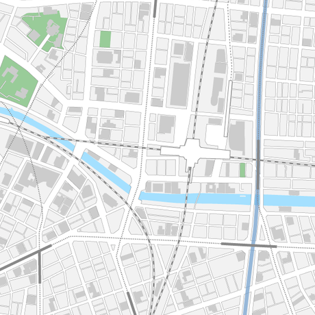 東京 秋葉原 ベクター地図データ(eps) 日本語
