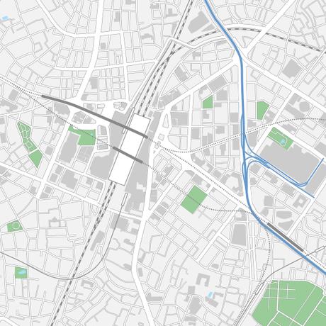 東京 池袋 ベクター地図データ(eps) 日本語/英語 並記版