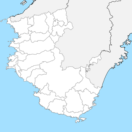 和歌山県 市区町村別 白地図データ(eps)