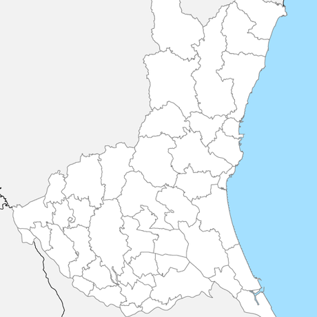 茨城県 市区町村別 白地図データ(eps)