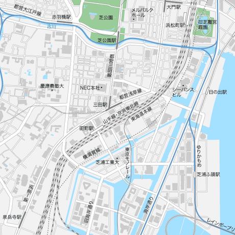 東京 田町・三田・芝浦マップ PDFデータ