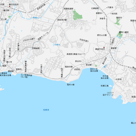 神奈川 江ノ電・鎌倉・逗子 マップ PDFデータ