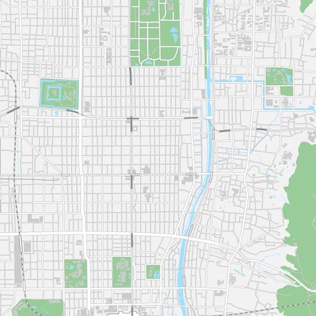 京都  中心部 マップ PDFデータ
