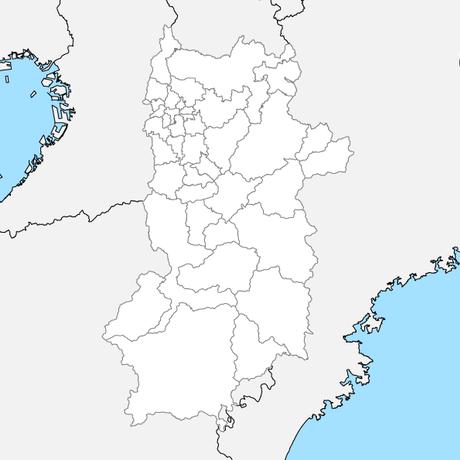 奈良県 市区町村別 白地図 PDFデータ
