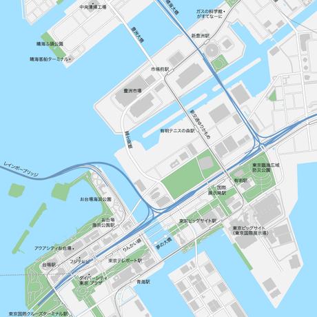 東京 豊洲・お台場 マップ PDFデータ