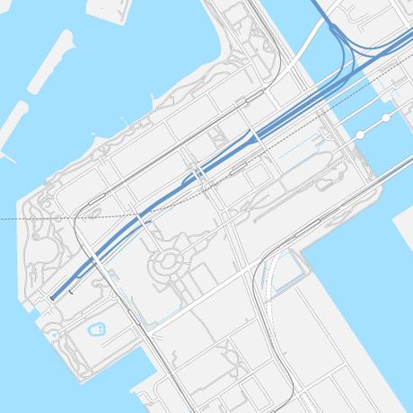 東京 お台場 ベクター地図データ(eps) 中文繁体語/英語 並記版