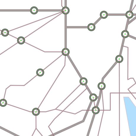 東京都 鉄道路線図 ベクター地図データ(eps) 日本語