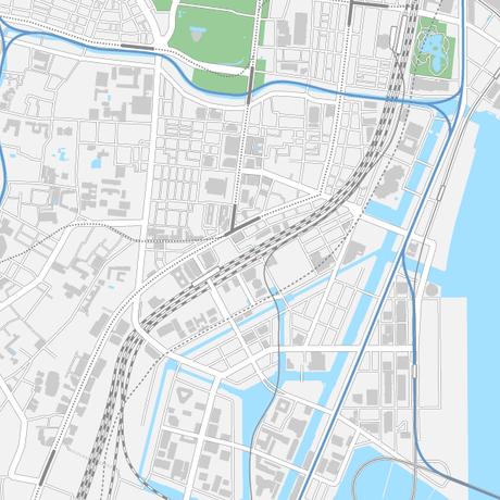 東京 田町・三田・芝浦 ベクター地図データ(eps) 日本語