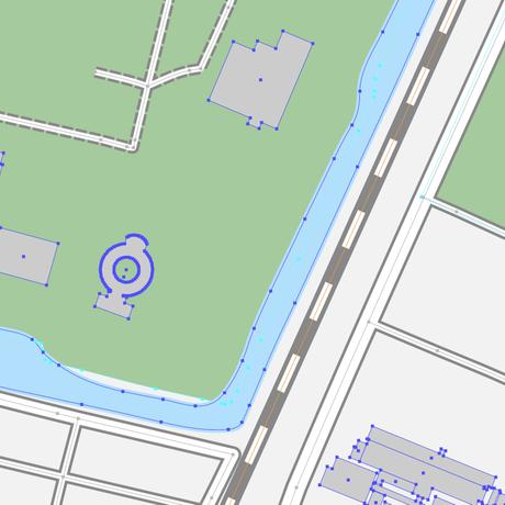 山形 山形駅周辺 ベクター地図データ(eps) 日本語