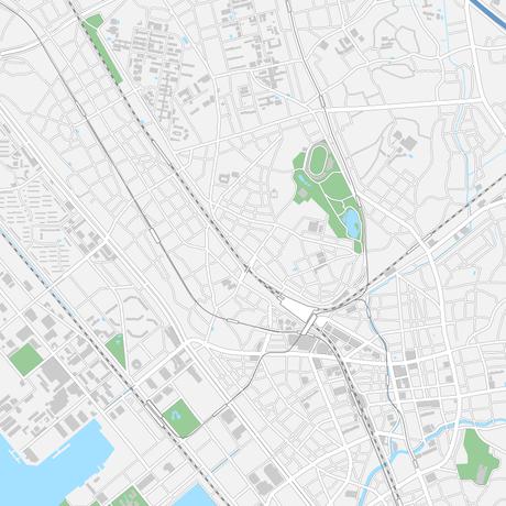 千葉 千葉駅周辺 ベクター地図データ(eps) 日本語/英語 並記版