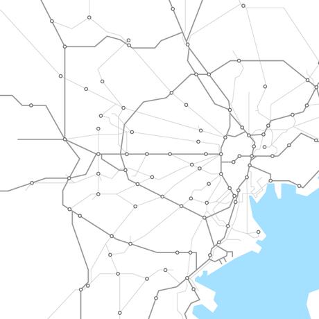 東京都 鉄道路線図 PDFデータ