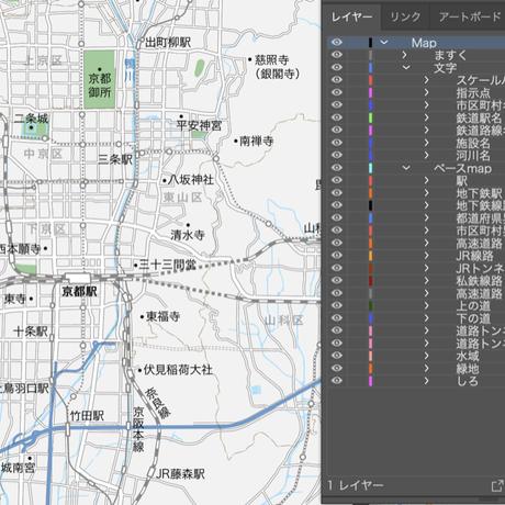 京都 広域 ベクター地図データ(eps) 日本語