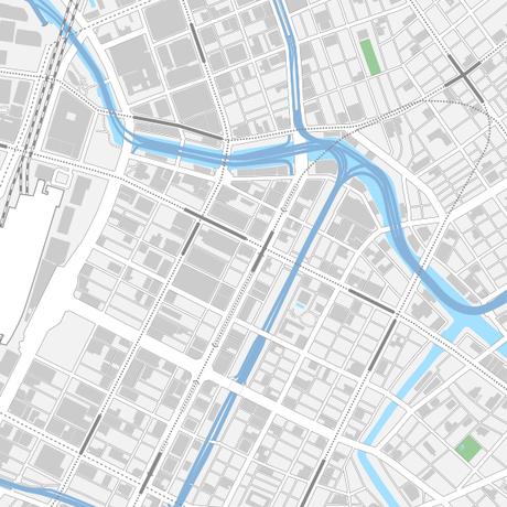 東京 日本橋 ベクター地図データ(eps) 日本語