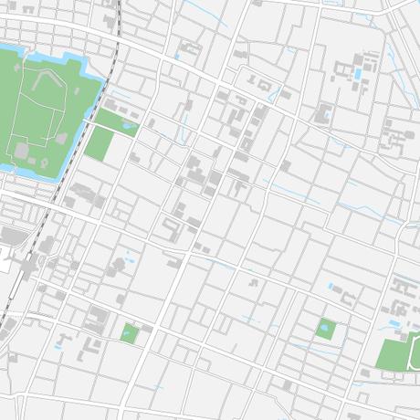 山形 山形駅周辺 ベクター地図データ(eps) 日本語/英語 並記版
