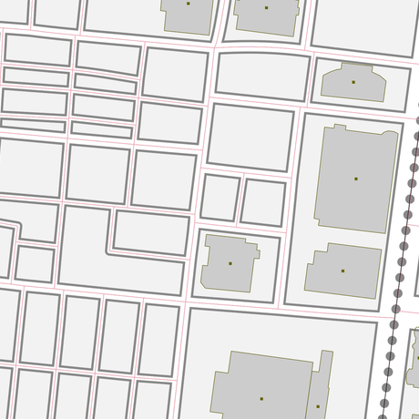 東京 田町・三田・芝浦 ベクター地図データ(eps) 日本語/英語 並記版