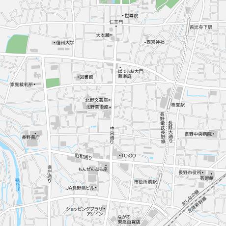長野 長野駅周辺 マップ PDFデータ