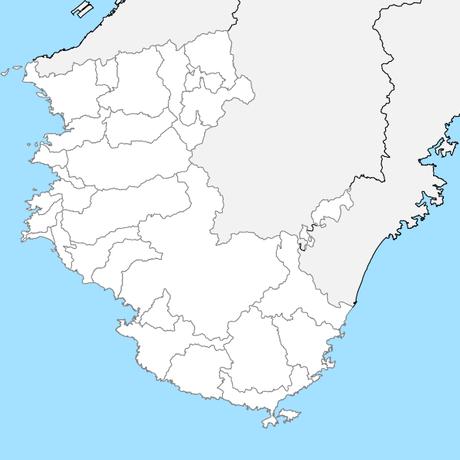 和歌山県 市区町村別 白地図 PDFデータ