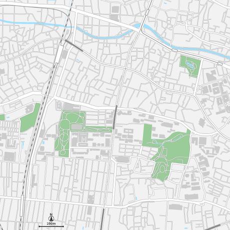 東京 高田馬場・早稲田ベクター地図データ(eps) 日本語