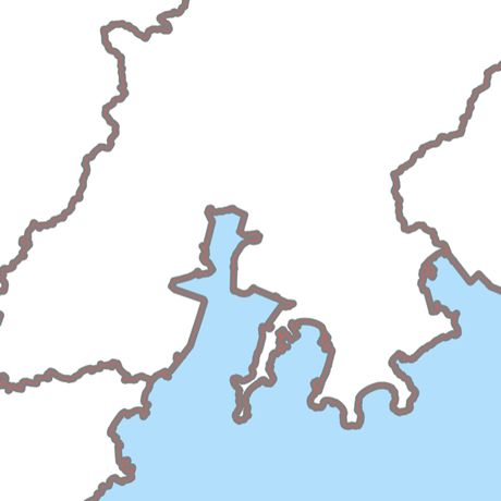 山口県 市区町村別 白地図データ(eps)