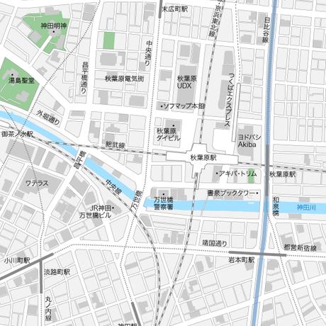 東京 秋葉原 マップ PDFデータ
