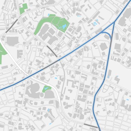 東京 六本木 ベクター地図データ(eps) 繁体語/英語 並記版