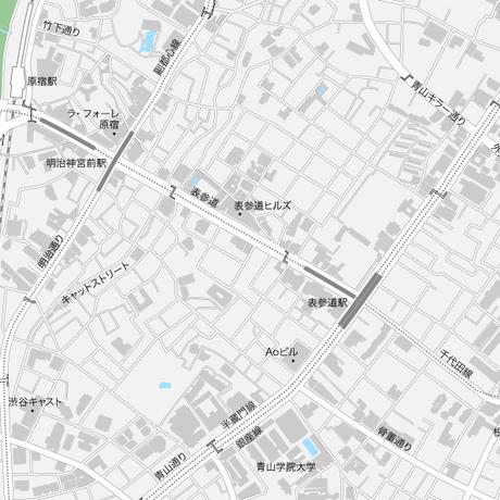 東京 原宿・表参道・青山 マップ PDFデータ