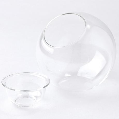 水栽培ガラスベース クリア ラウンドドーム