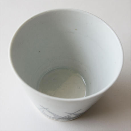 156-b  古伊万里 KOIMARI 染付 草文 蕎麦猪口
