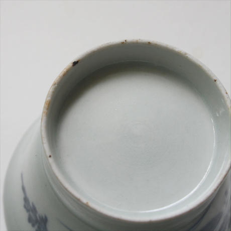 S-14 古伊万里 KOIMARI 染付人参文 広東形 蕎麦猪口