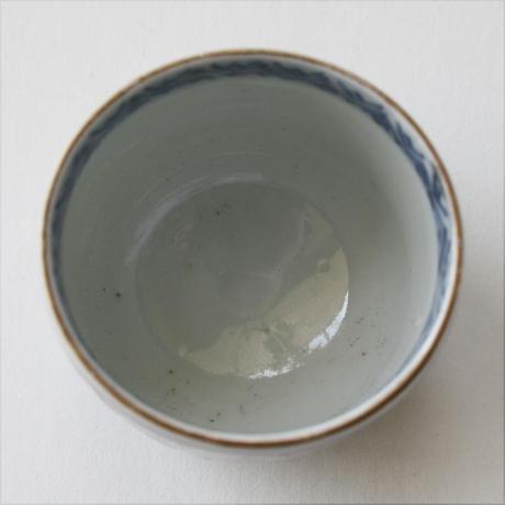 C-203 古伊万里 KOIMARI 色絵 花卉文 覗猪口