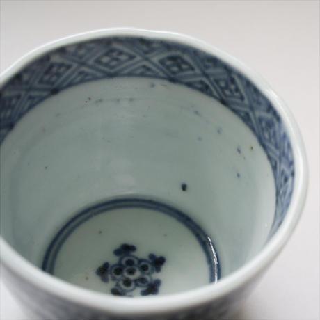 S-04b 古伊万里 KOIMARI 染付 蛸唐草文 蕎麦猪口