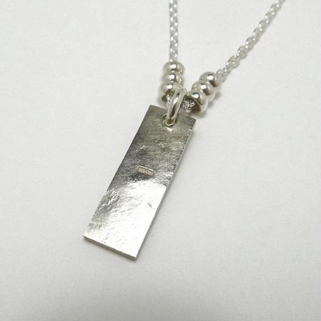 シルバー925製石目テクスチャーネックレスお好きな刻印可能です