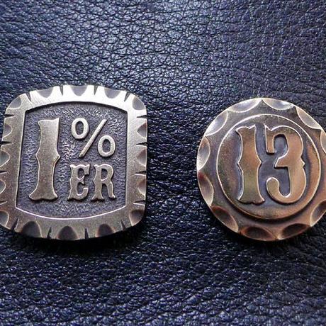 1%ERピンバッチ真鍮製