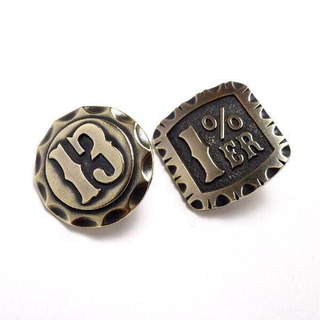 13ピンバッチ真鍮製
