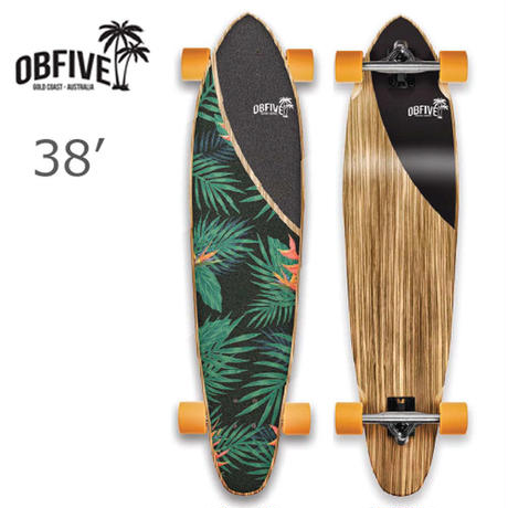 "OBfive オービーファイブ PALAM SPRINGS LONGBOARD 38"" ロングサーフスケートボードコンプリート"