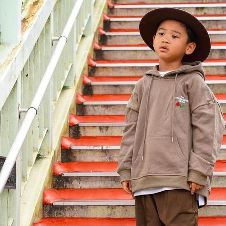 OTOGIBANASHI / おとrose hoodie(KIDS)-Brown- / パーカー(子供服)