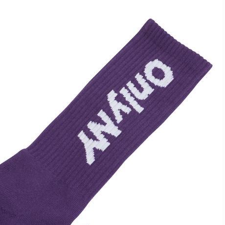 ONLYNY / Block Logo Socks -Dark Purple- / 靴下