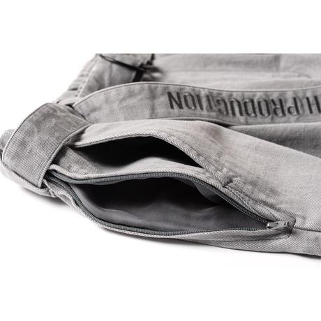 TIGHTBOOTH / TBPR / DENIM BAGGY SLACKS -Grey- / デニムバギースラックス