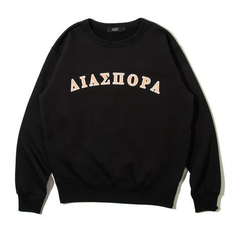 Diaspora skateboards  / Frat Arc Logo Crewneck Sweatshirt -Black- / クルーネックスウェット