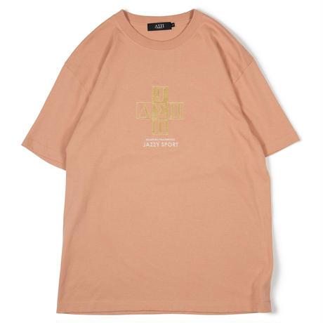 Jazzy Sport x Diaspora skateboards Cross Logo Tee -Camel- / 半袖Tシャツ
