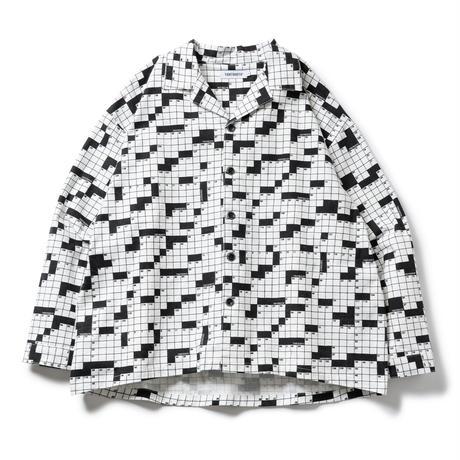 TIGHTBOOTH / TBPR / CROSSWORD FLANNEL SHIRT -White- / フランネルシャツ