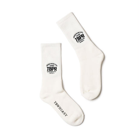 TIGHTBOOTH / TBPR / STRAIGHT UP SOCKS -White- / 靴下