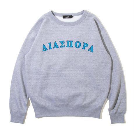 Diaspora skateboards  / Frat Arc Logo Crewneck Sweatshirt -Heather Grey- / クルーネックスウェット