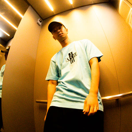 Jazzy Sport x Diaspora skateboards Cross Logo Tee -Acid Blue- / 半袖Tシャツ