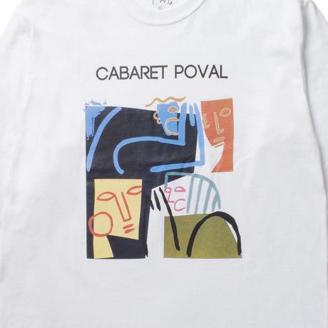 Cabaret Poval / Burned L/S Tee -White- / ロンティー