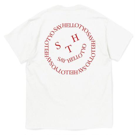 SAYHELLO / Face Logo S/S Tee -white- / 半袖Tシャツ