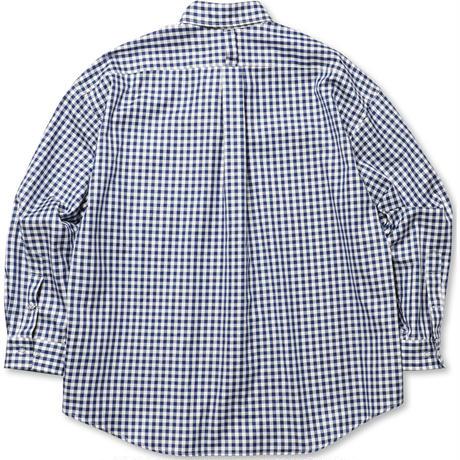 ROTOL / BASIC SHIRT - GINGHAM -NAVY- / ベーシックシャツ